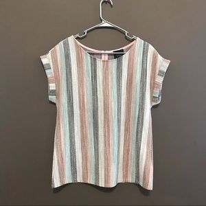 W5 striped short sleeved top